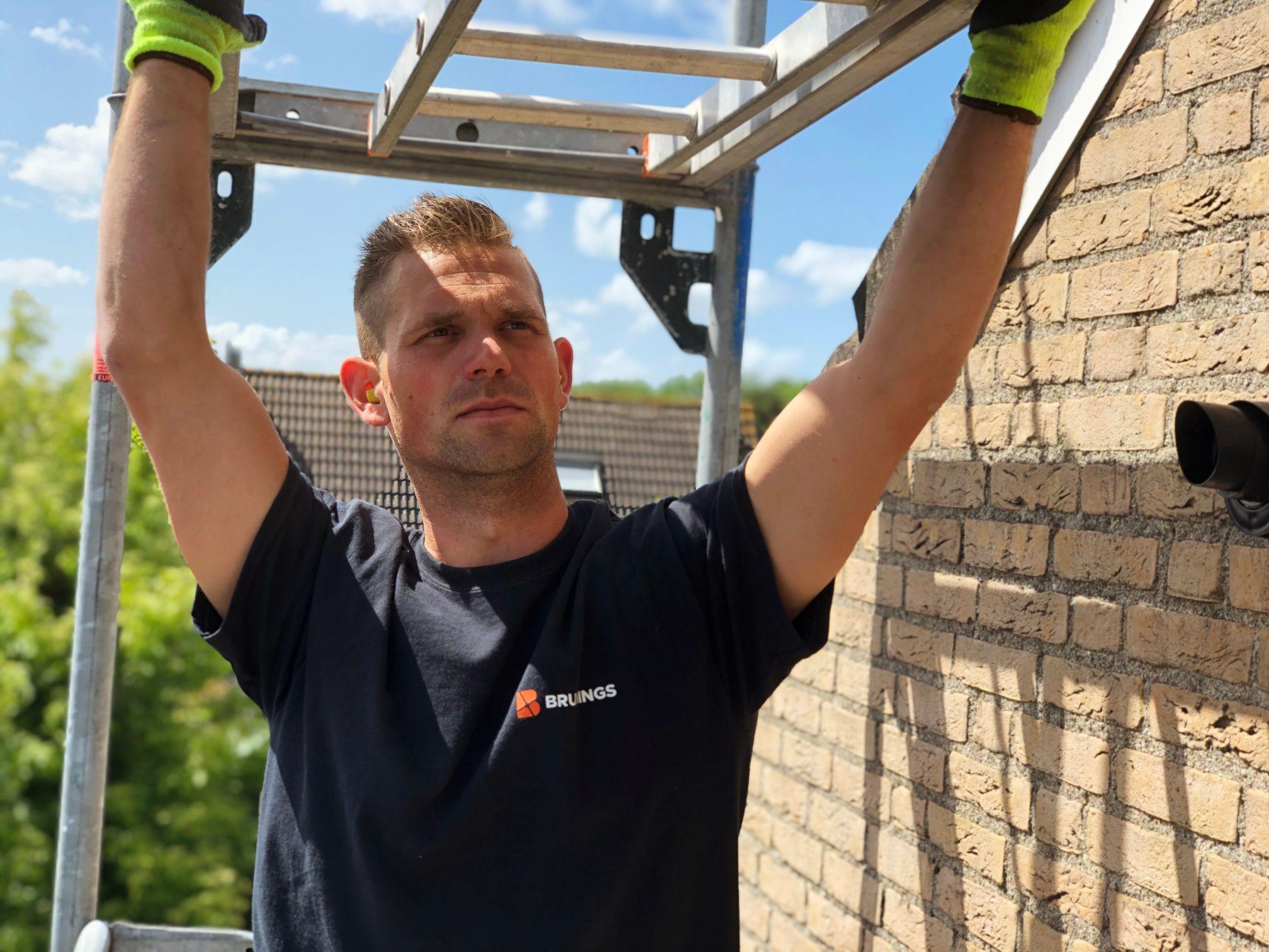 Gevelrenovatie steigerbouw Bruinings Renovatie