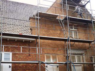 Renovatie Carlo Bruinings voeg vernieuwen stralen